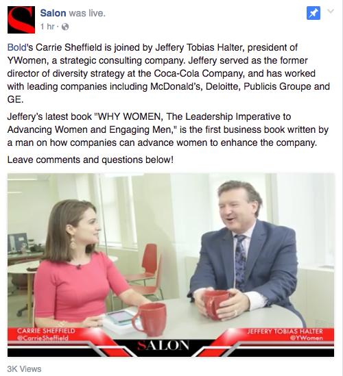 Salon Talk with Carrie Sheffield and Jeffery Tobias Halter