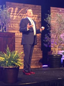 Jeffery Tobias Halter speaking at Women of the Vine and Spirits 2017