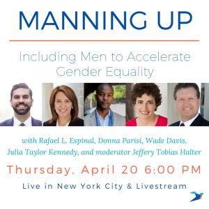 Manning Up - Ellevate livestream with Jeffery Tobias Halter NYC 2017