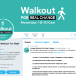 Google Walkout for Real Change analyze by Jeffery Tobias Halter