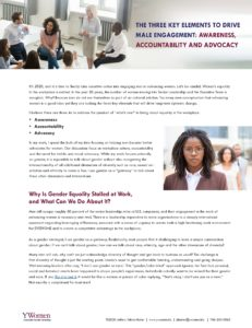 YWomen - Three Elements to Drive Male Engagement | Awareness Accountability and Advocacy_Page_1