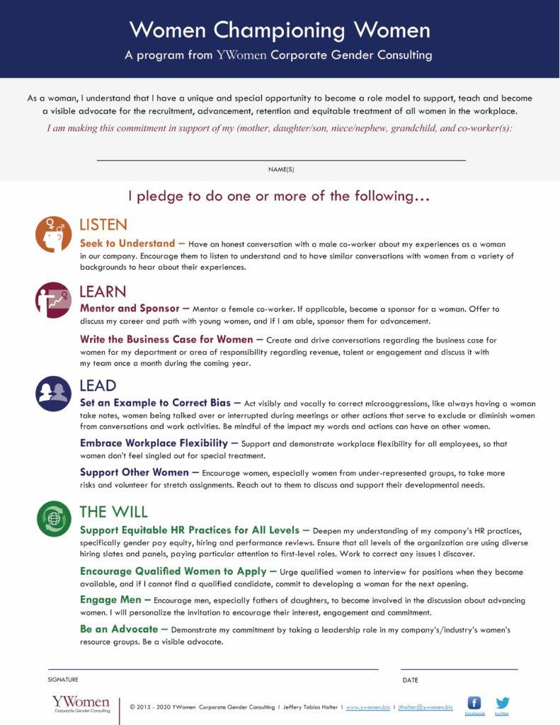 YWomen   Women Championing Women Pledge